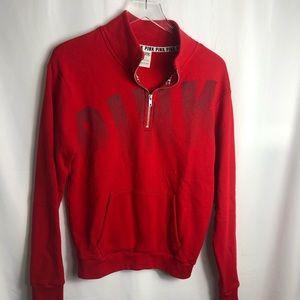 Victoria Secret PINK Red 3/4 Zip Sweatshirt 508